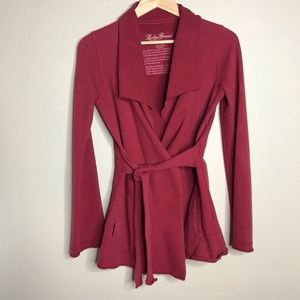 Lucky Brand Cardigan Jacket Open Front Belted XS